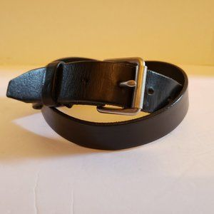 J. Crew Italian Black Leather Men's Belt Sz 34 Exc